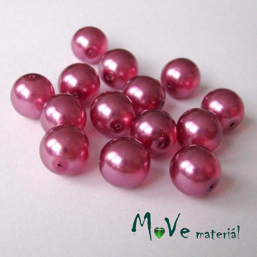 České voskové perle10mm, 14ks, růžovofialové