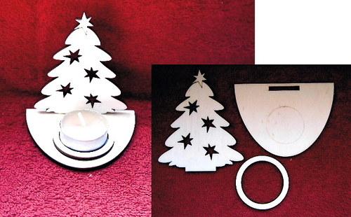 Stojánek na čajovou svíčku stromek-v.10,2x8,4cm