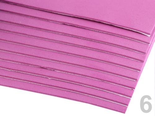 Samolepící pěnová guma Moosgummi 20x30cm - fialová