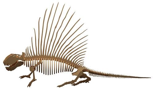 Dřevěná skládačka Dimetrodon