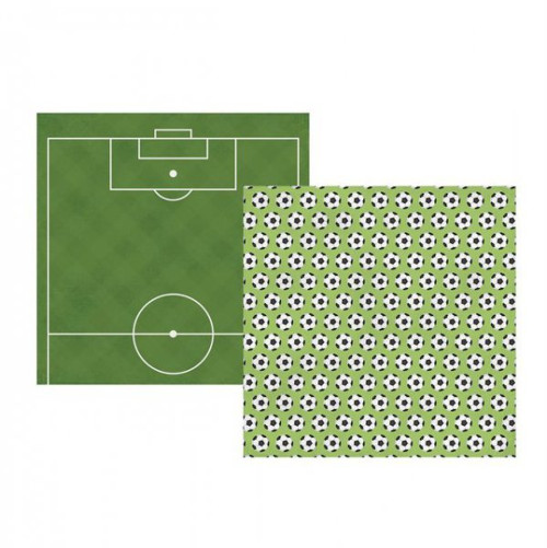 Scrapbookový papír SS /Soccer / Pass, Shoot, Score