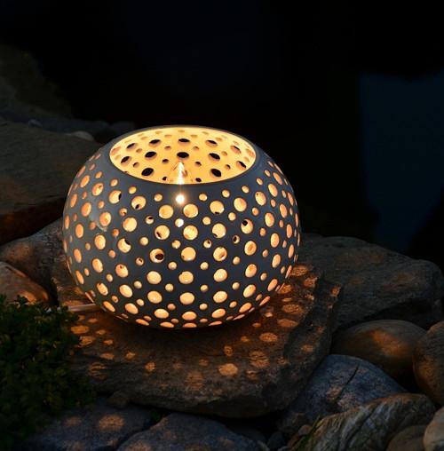 Keramická lampa bílá