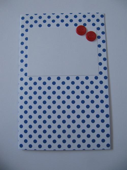 puntíkaté retro přání s knoflíkem