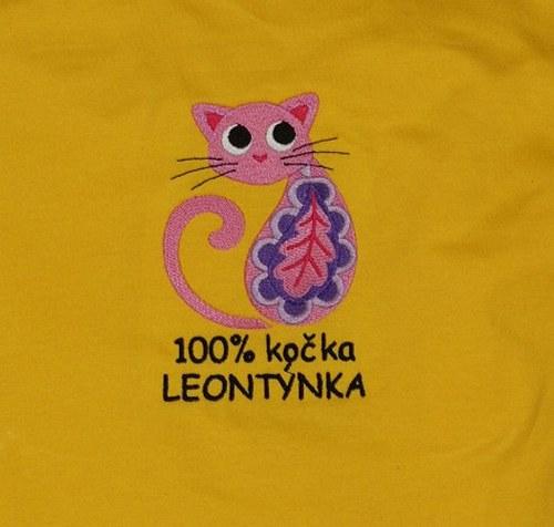Dětské tričko DR- Paisley kočka+text