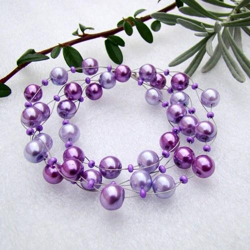 náhrdelník Levandulová