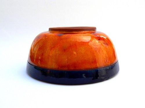 Velká jídelní miska Orange&Black