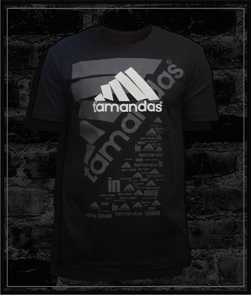 Pánské černé tričko Ťamandas 02