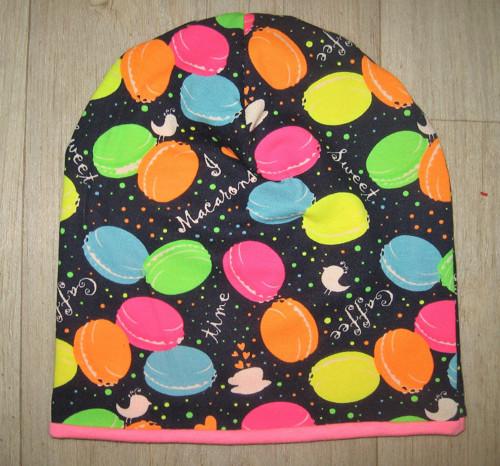 čepice dvojitá neon balonky