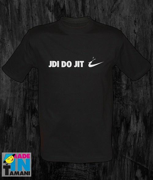 Pánské černé tričko Jdi dojit 02