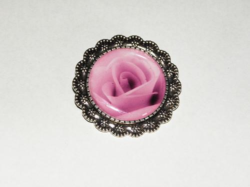 RoseStyl fialová - Ozdobná brož