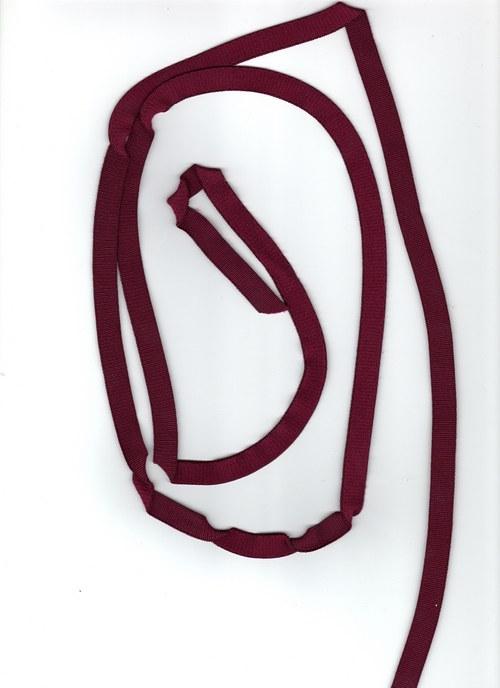 Vínová ozdobná guma, šíře 1cm