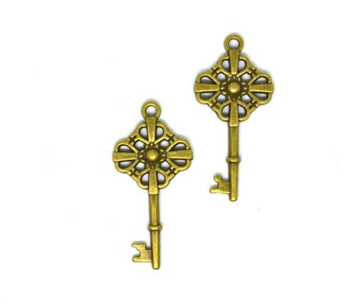 Přívěsek klíč, 40 mm, 2 ks