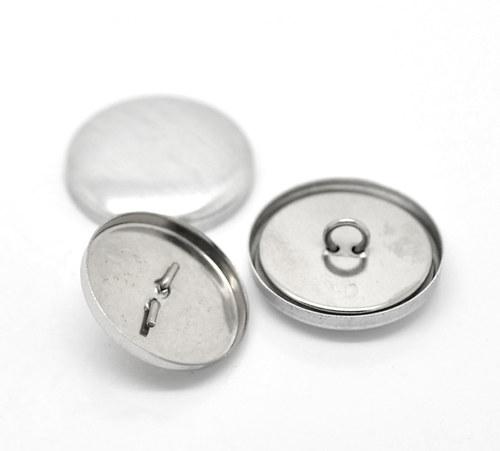 Butony, látkové knoflíky, pro výrobu, 50ks, 24 mm