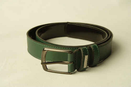 Kožený pásek - zelený