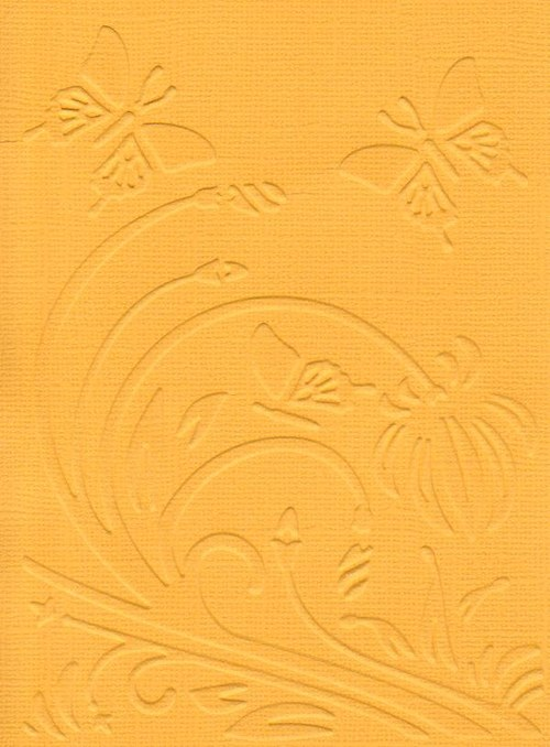Embosovaná čtvrtka A6 - louka žlutá