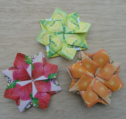 Hvězdičky z čajových sáčků