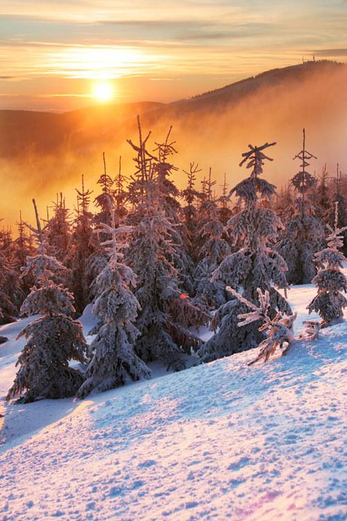 """Fotografie \""""Zimní večer v Krkonoších\"""""""