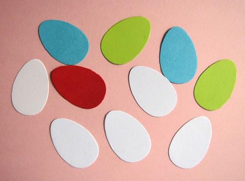 Barevná a bílá vajíčka- střední