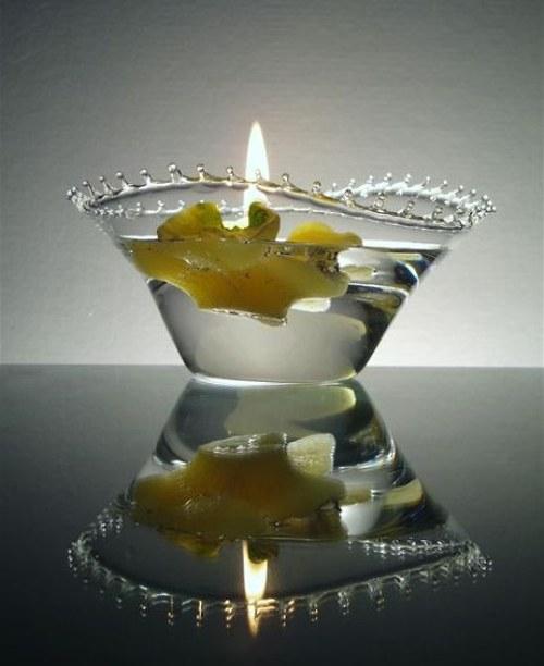 svícínek-mistička se skleněnou krajkou,ruč.výroba