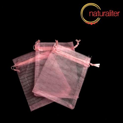 Dárkový organzový sáček růžový 12x9cm