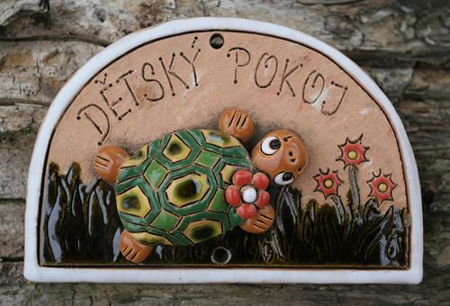 CEDULKA Dětský pokoj Želvička s kytičkou