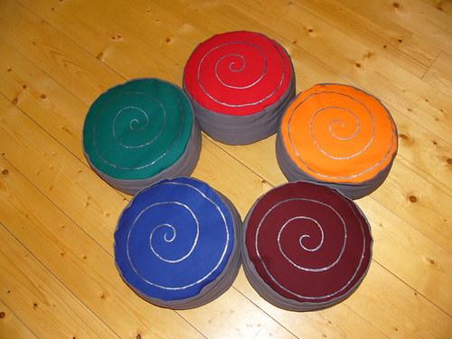 Pohan. polštářek, sedák, bobík 12 cm - kolekce 5ks