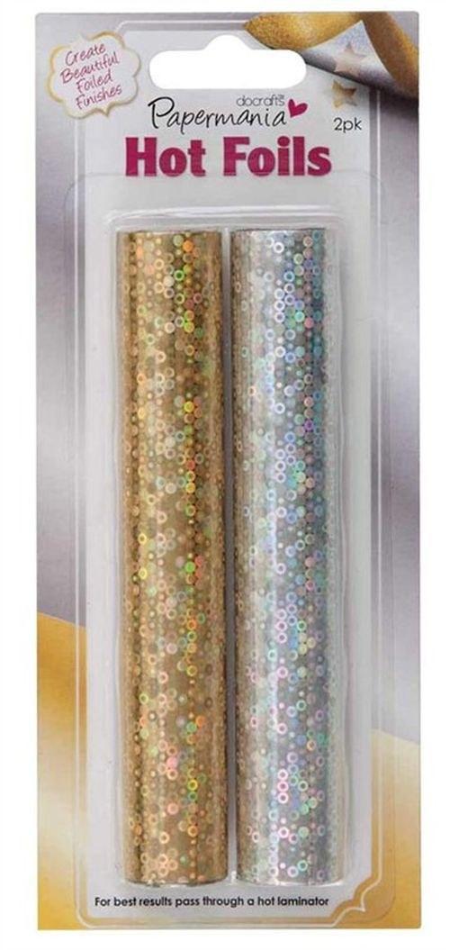 Hot Foil zlatá a stříbrná - holografická 2x6 m