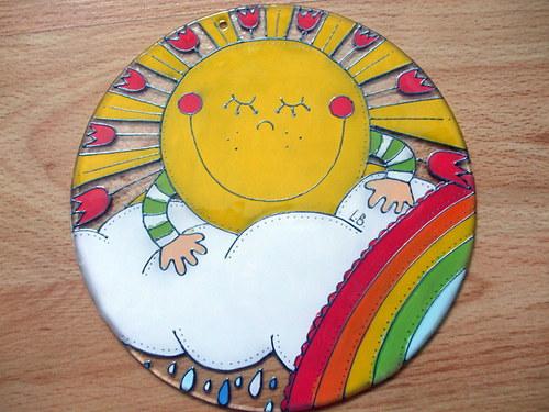 Sluníčko s duhou