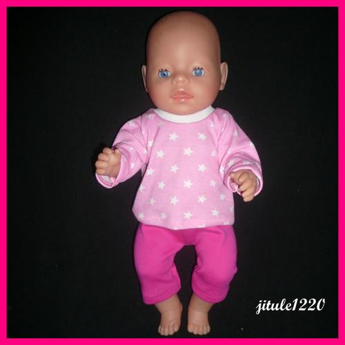 Tričko a kraťasy pro Baby born  43 cm