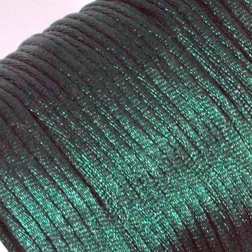 Saténová šňůrka 2 mm / tmavě zelená