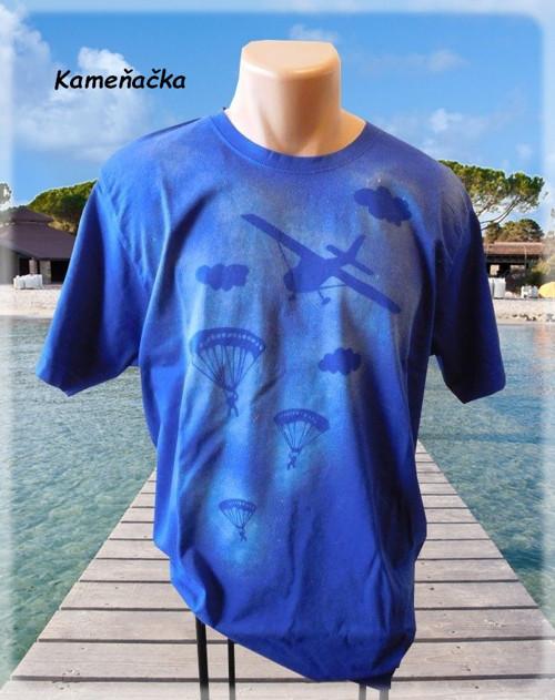 Pánské tričko s parašutisty