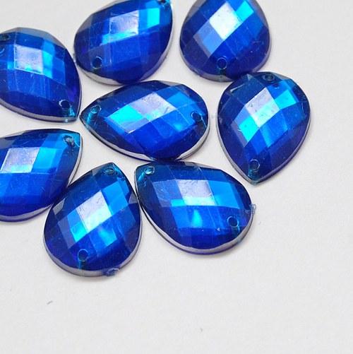 Našívací kamínek Hruška kobaltová modrá 10ks NK-78