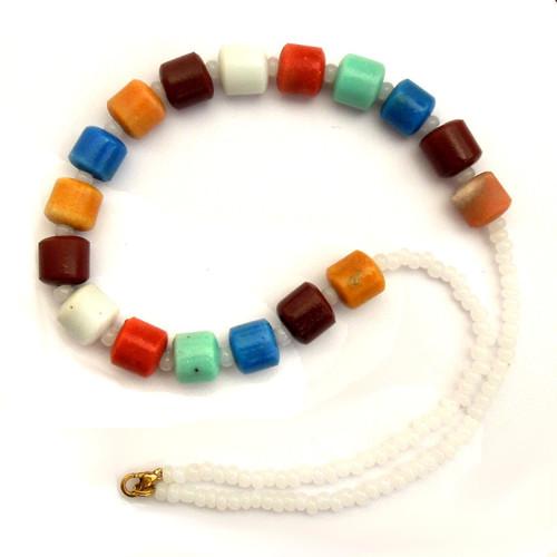 Náhrdelník ze skleněných korálů více barev II
