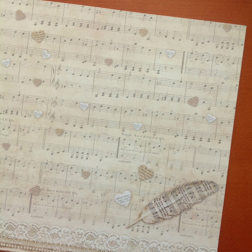 Oboustranný papír  Stamperia 30 x 30 cm,170  g /m2