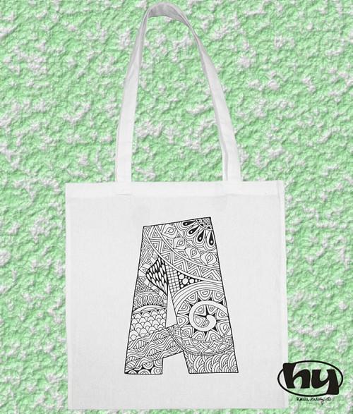 """Písmeno \""""A\"""" - taška k domalování"""