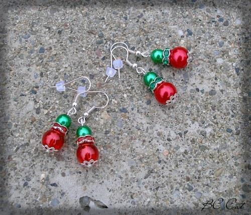 Cinkrlata Vánoční - náušnice