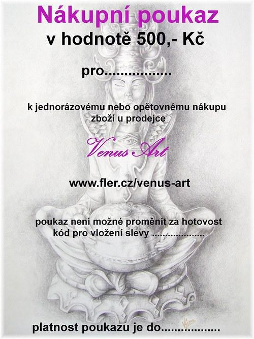 Nákupní poukaz 500 Kč u prodejce Venus Art