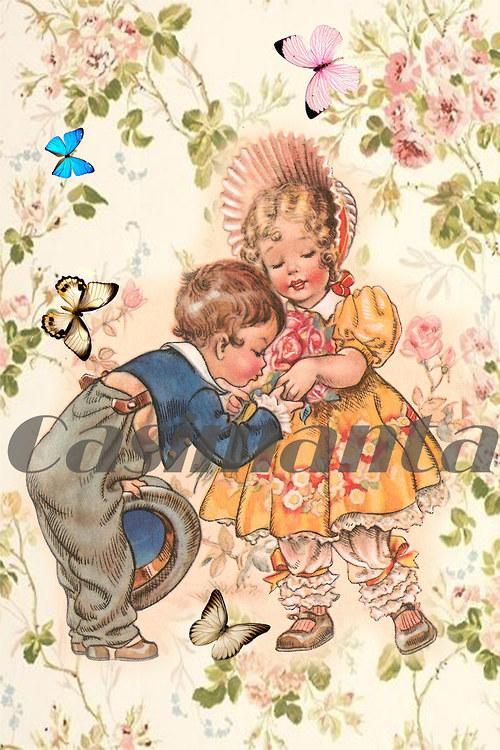 Ručku líbám - vintage motiv