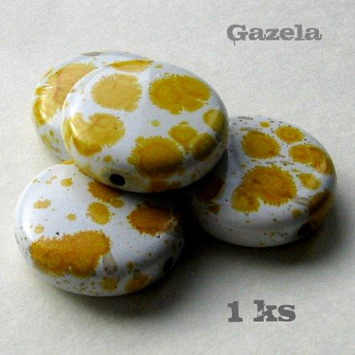 Kolečko dalmatin žluté - 1 ks