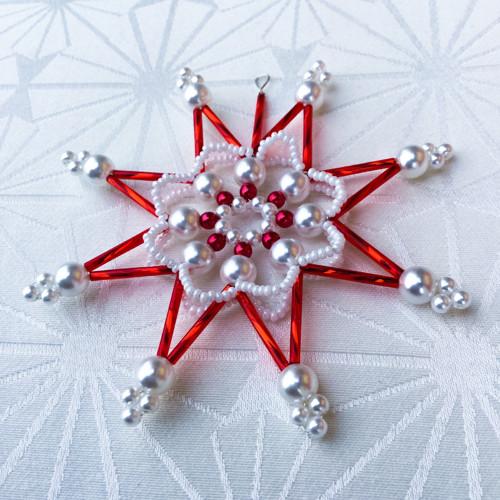 Vánoční hvězda z korálků