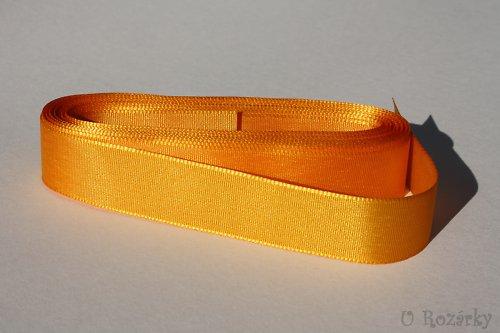 Stuha taftová-šíře 20 mm - cena za 5 m! (oranžová)