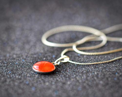 Malý náhrdelník Coral ze stříbra Ag925 rhodidováno