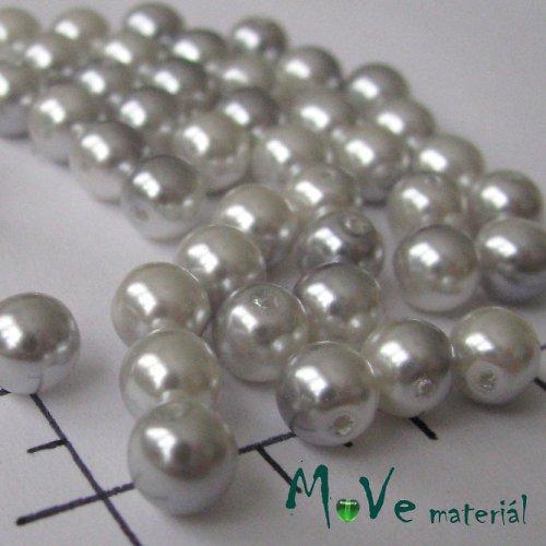 České voskové perle šedý melír 6mm, 36ks