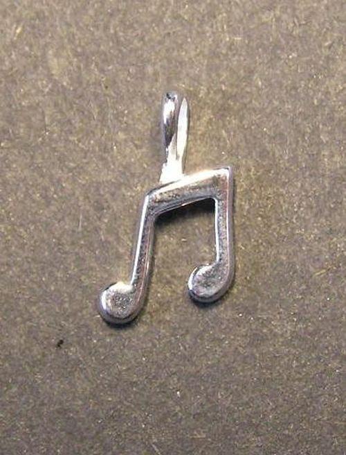 Hudební nota - stříbrný přívěsek