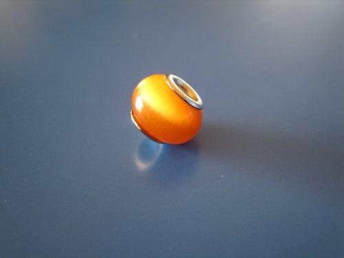 Korálek kočičí oko oranžová