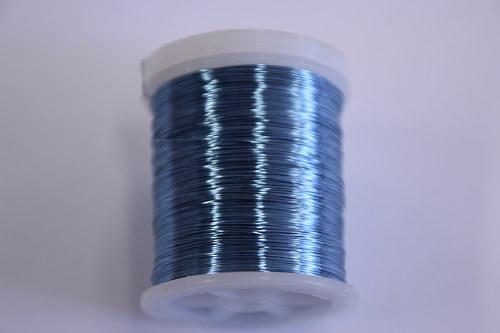 Měděný drátek 03mm - sv.modrý, návin 48,5-50m