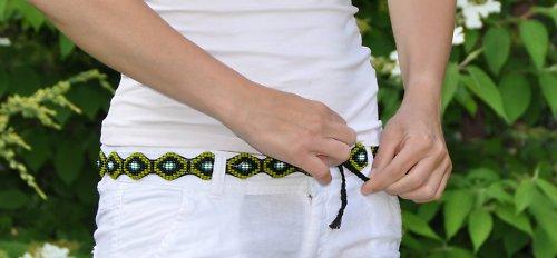 korálkový pásek  zelená zmije