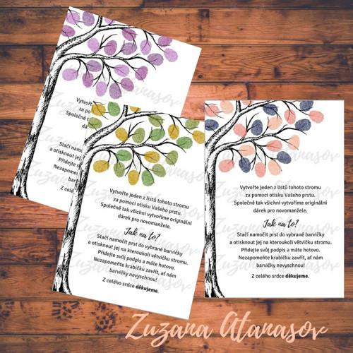 Návod pro hosty na svatební strom