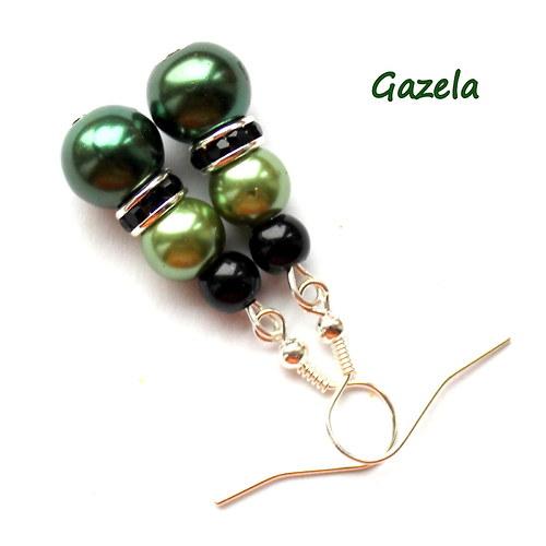 Náušnice Perlové zelené