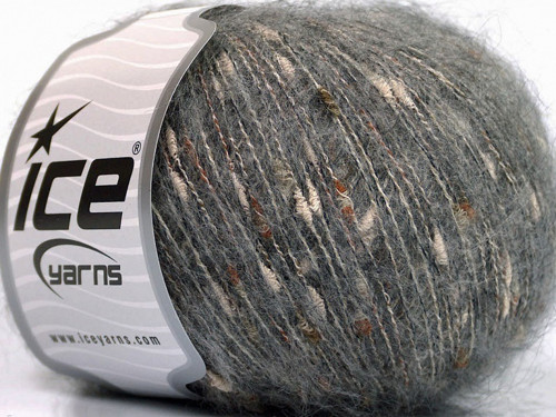 Mohair Shrimp Grey Ice Yarns